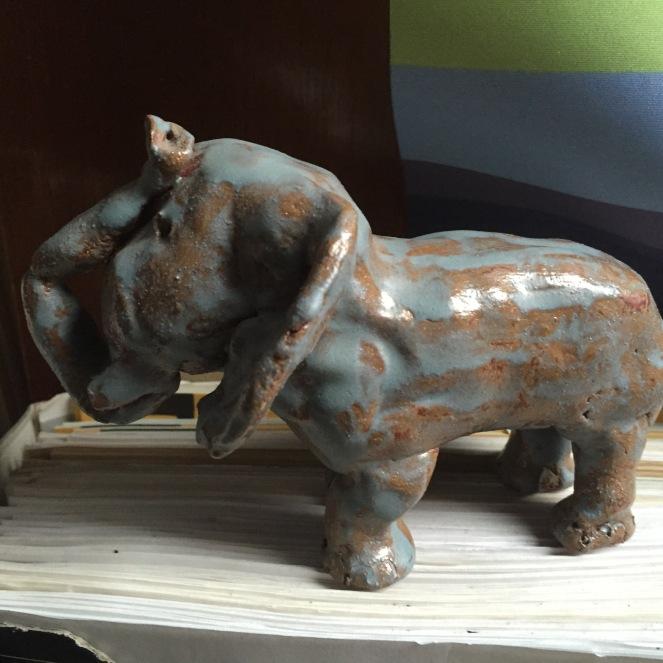 Elefant, selbstgetöpfert