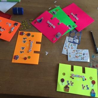 Karten mit Stickern I