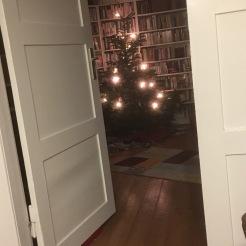 Weihnachtsbaum am Silvesterabend