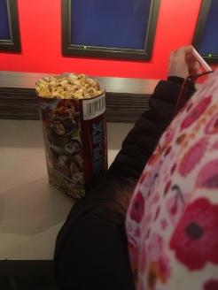 ... mit Popcorn
