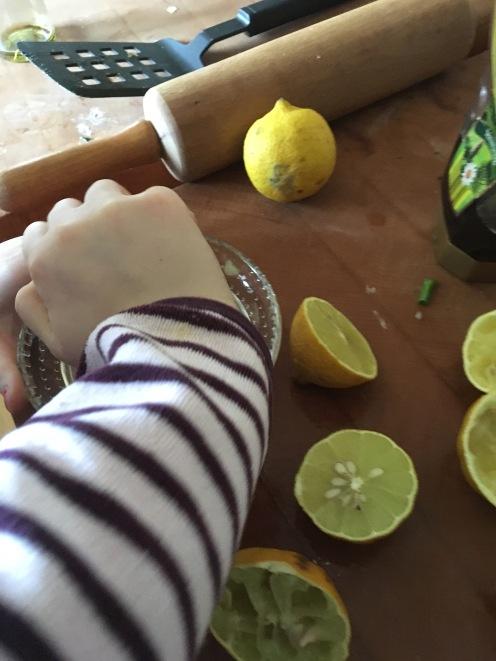 Zitronen pressen