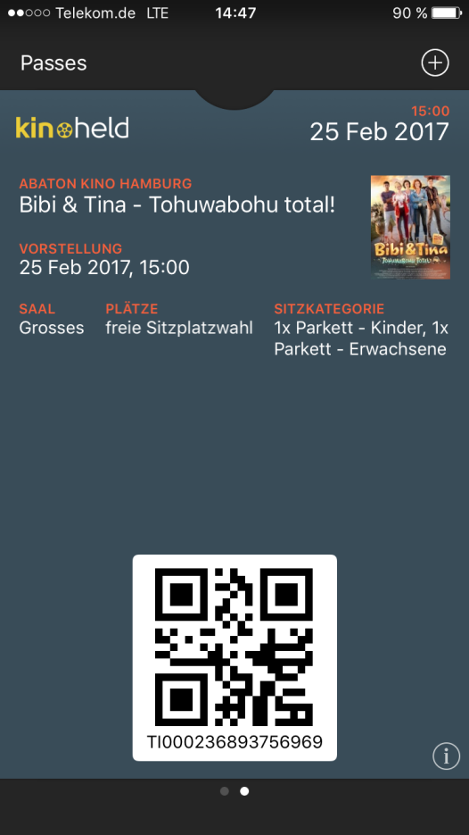 Eintrittskarte.