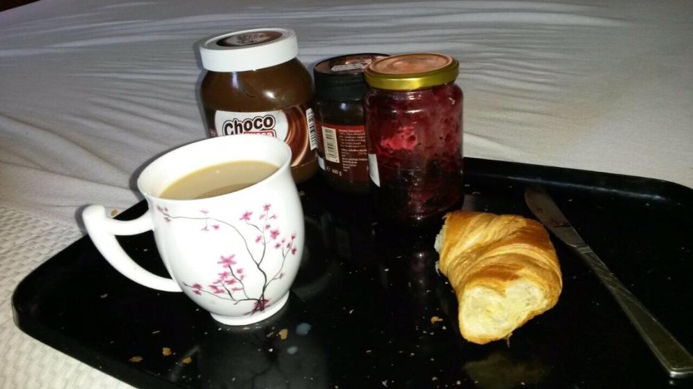 Frühstück im Bett.
