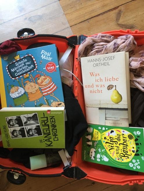 Ein Koffer voller Bücher.