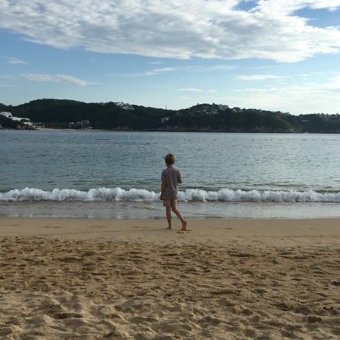 Am Strand.