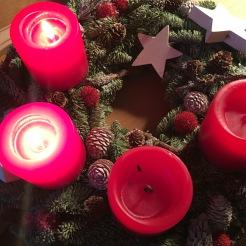 Zwei Kerzen.