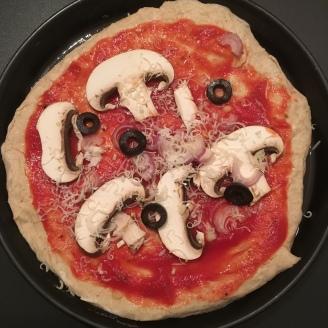 Pilz-Pizza.